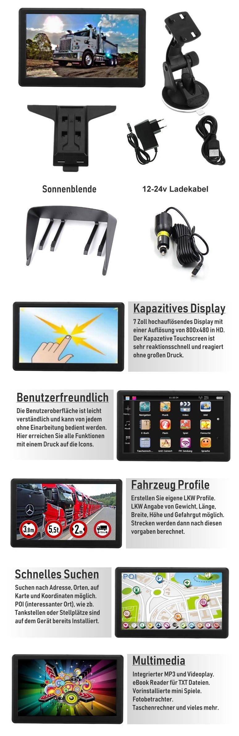 7 zoll navigationsger t f r reisemobil wohnmobil lkw pkw. Black Bedroom Furniture Sets. Home Design Ideas